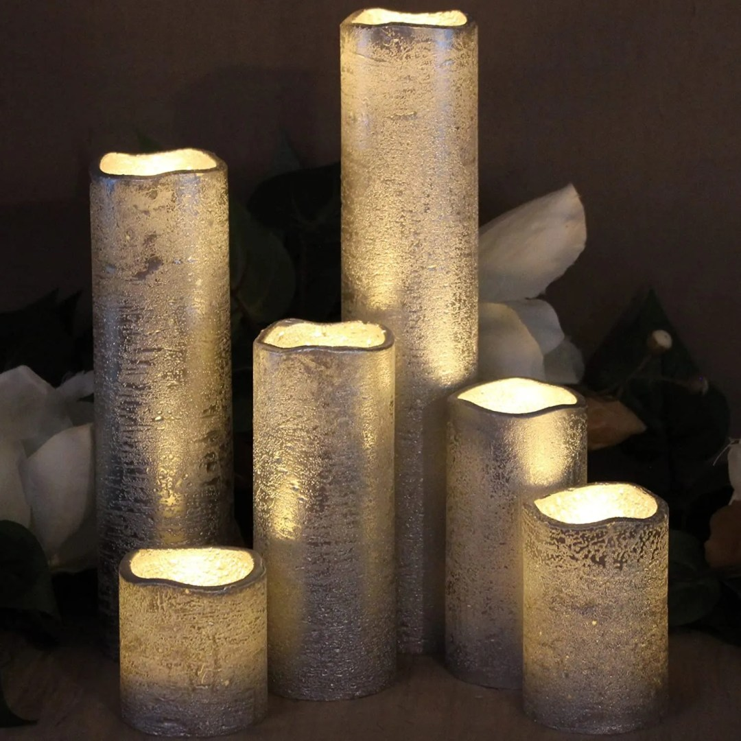 Lytes Flameless Timer LED Candles - christmas office decor ideas on a budget