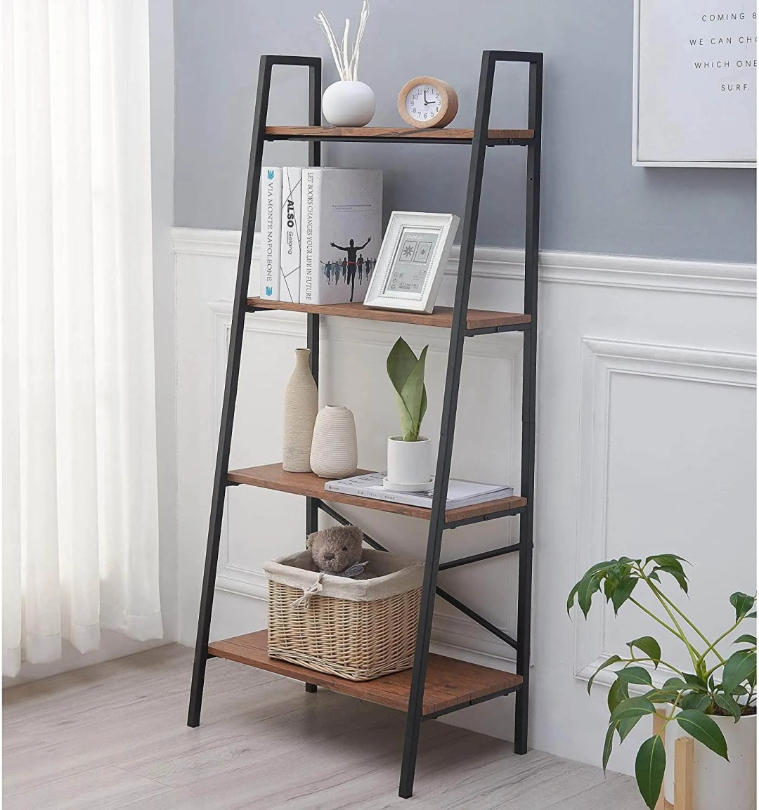 Vintage Bookshelf - home office decor ideas