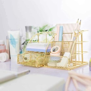Gold Desk Organizer for home office organizing