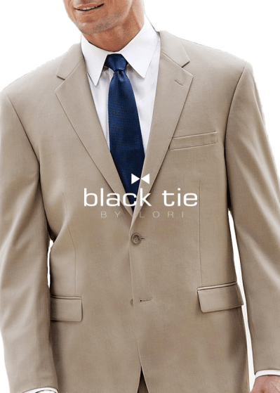 beige business suit