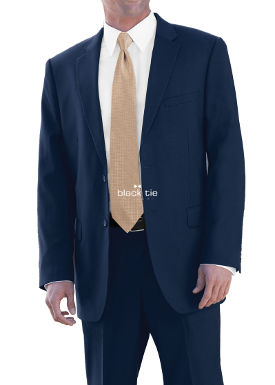 navy business suit