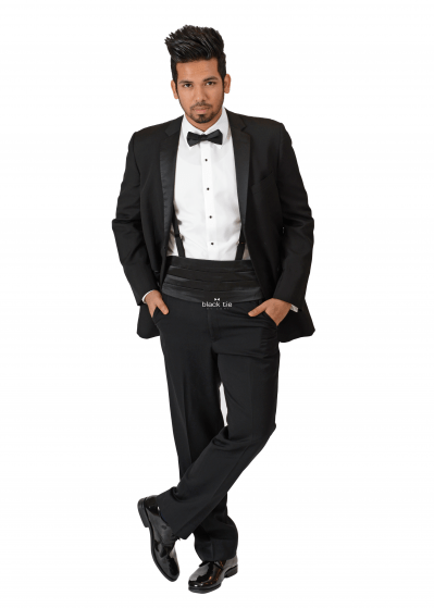 "IKE BEHAR ""PARKER"" BLACK NOTCH TUXEDO"