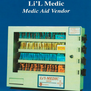 Li'L Medic 4 Column Lil Medic Aid-Condom- Medical Vending Machine