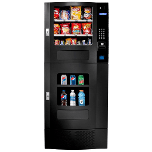 Seaga OVM 6 Beverage-16 Snack Black Combo Machine