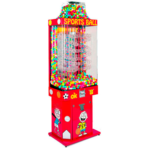 Sports Ball-Gumball Falls Kinetic Vending Machine