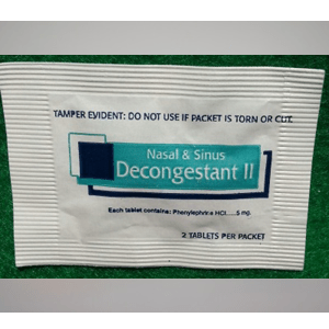 Decongestant ll Nasal & Sinus -2 Tablets Per Packet