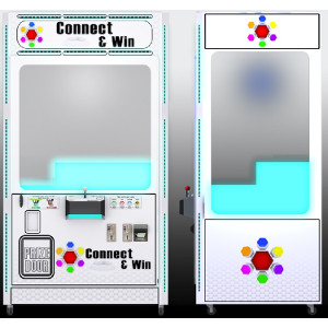 CONNECT & WIN-Crane Skill Claw Arcade Merchandiser