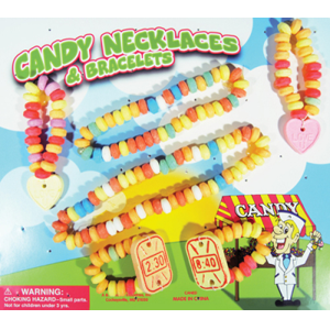 Candy Necklaces and Bracelets - 2.2 Inch Capsules