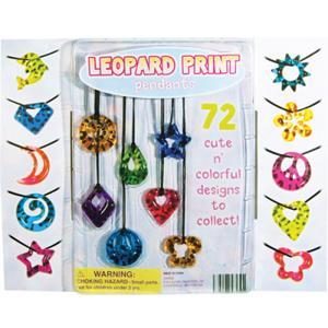Leopard Print Pendants - 2.2 Inch Toy Capsules