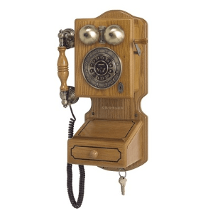 Crosley Country Kitchen Wall Phone-Model CR-92-Oak