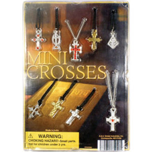 Mini Cross Necklaces - 1.1 Inch Acorn-Shaped Capsules