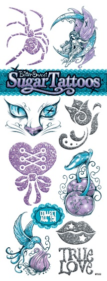 BitterSweet Purple Sugar Tattoos - Vending Tattoo Refill