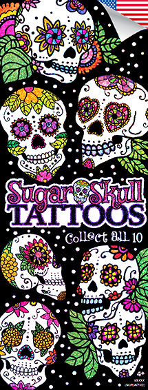 Sugar Skulls Glitter Tattoos - Vending Tattoo Refill