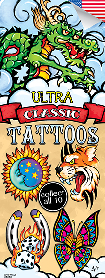 Ultra Classic #17 Tattoos - Vending Tattoo Refill