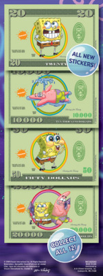 SpongeBob SquarePants Money Prismatic Stickers