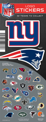 NFL Team Logo Stickers - Vending Machine Refill