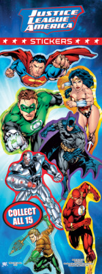 DC Superhero Stickers - Vending Sticker Refill