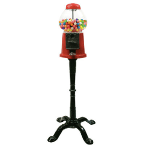 "15"" Metal-Glass Gumball-Candy Bulk Vending Machine"
