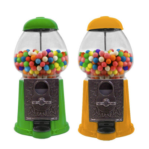 "9"" Metal-Glass Gumball-Candy Bulk Vending Machine"