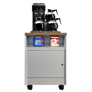 All State Model MOS 200-2-Oak Mobile Coffee Stand