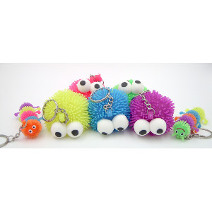 Squishy Stretchable Key Chains Multiple Colors 36 Count