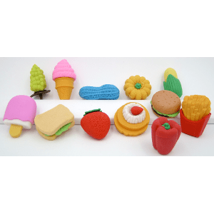 Sweet Treat Erasers Twelve Variety Mix 48 Count