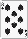 poker spade 8