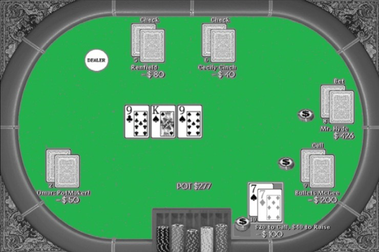 The flop is the first of many moments of truth in a Hold'em hand.
