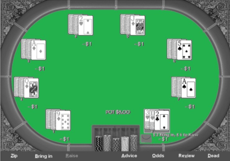 You get a lot of information early in the hand in seven-card Stud