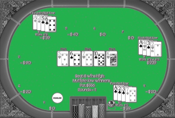 Who doesn't play an Ace and a Deuce in Poker Omaha high-low?