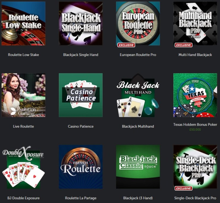 Betsafe Casino Table Games