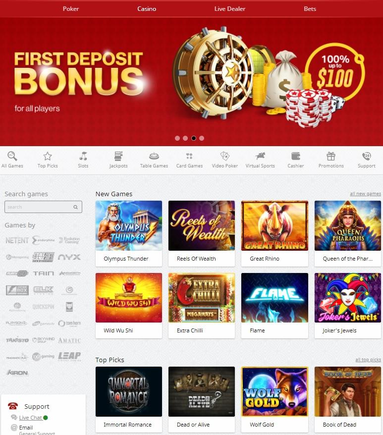 RedStar Casino, Poker, Sportsbook