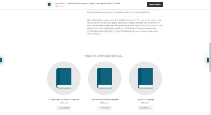 3 producten weergeven onder een blog of pagina