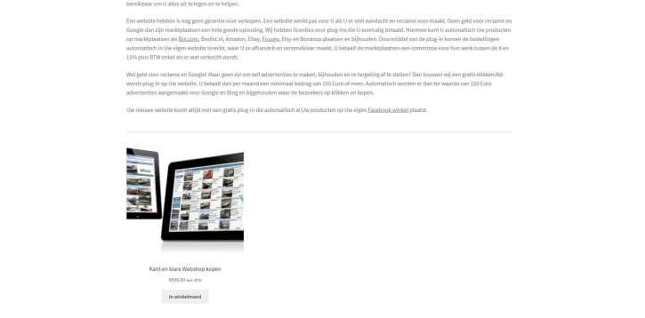 Product toevoegen aan een blog of pagina