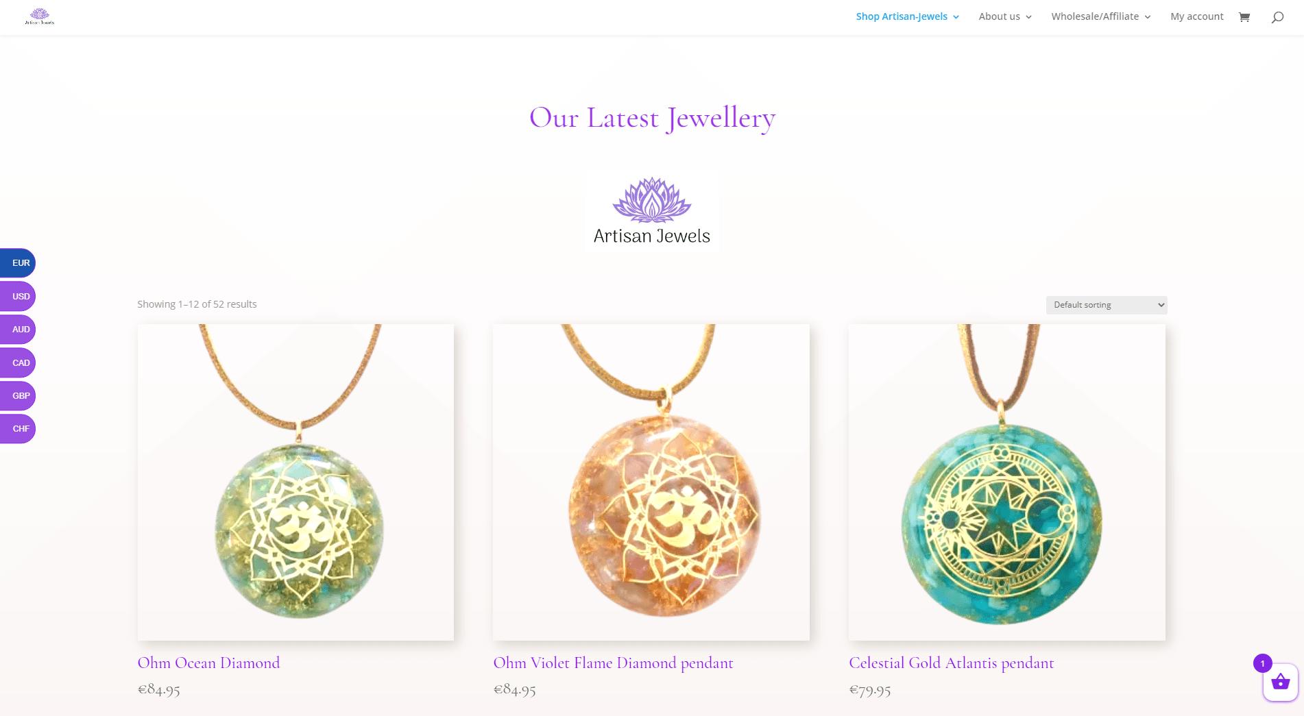 Artisan Jewels Webwinkel Referenties by onlinewebshop.eu