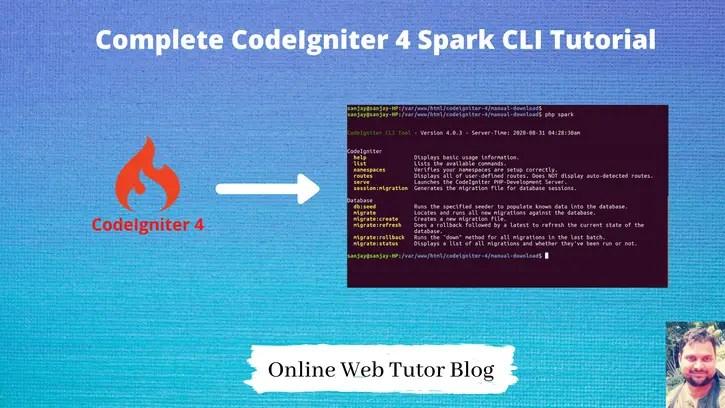 Complete CodeIgniter 4 Spark CLI Tutorial