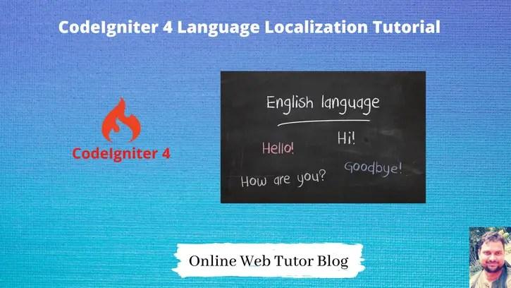 CodeIgniter 4 Language Localization Tutorial