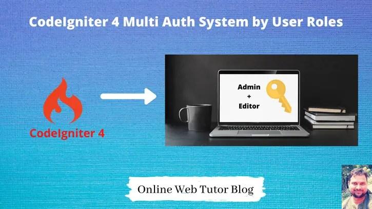 Codeigniter-4-Multi-Auth-User-Role-Wise-Login