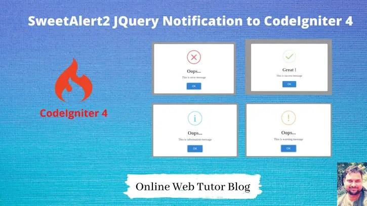 SweetAlert2-jQuery-Notification-Plugin-to-CodeIgniter-4