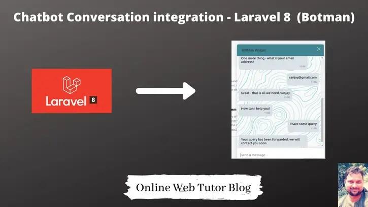 Chatbot-Conversation-integration-in-Laravel-8-Using-Botman