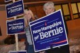 Sanders supporters stump for their candidate in Manchester, New Hampshire on Primary night. Sanders won the New Hampshire primary by a 2-1 margin.