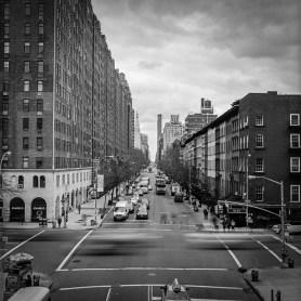 10th Ave/ W 23rd Str Blick quer durch Manhattan