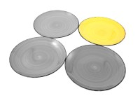 Plate Uni Porcelain Ceramic Multicolour Diner Plate Dinner ...