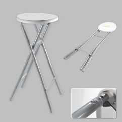Folding Bar Stool Chairs Top Rated Spa Xl Chair High Foldable Metal White Grey