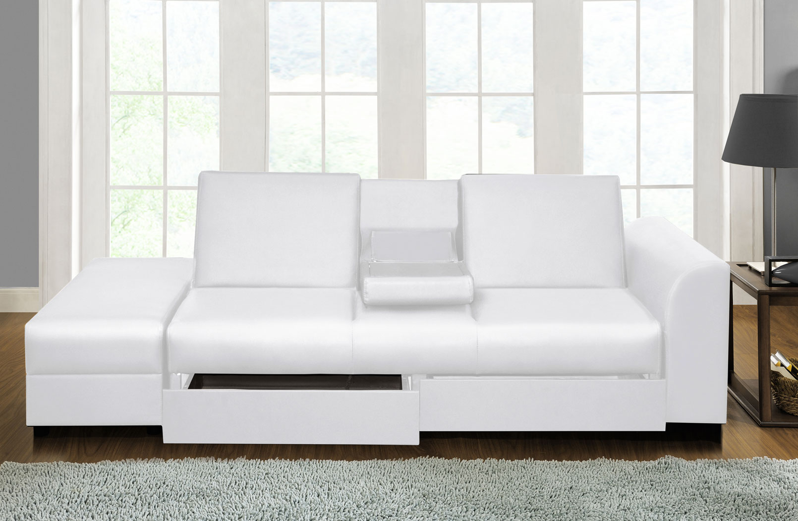 folding bed sofa set designer slipcovers cairo faux leather couch