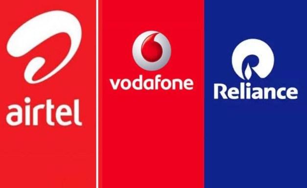 Airtel Vs Vodafone-Idea Vs Reliance Jio 4G prepaid Comparison