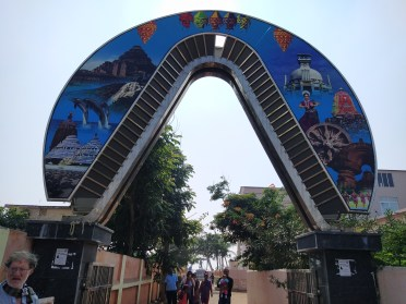 Gandhi Park Entry gate at Golden sea beach