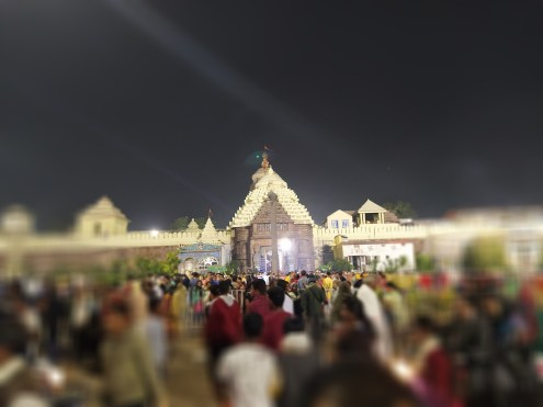 Jagannath temple in portrait mode