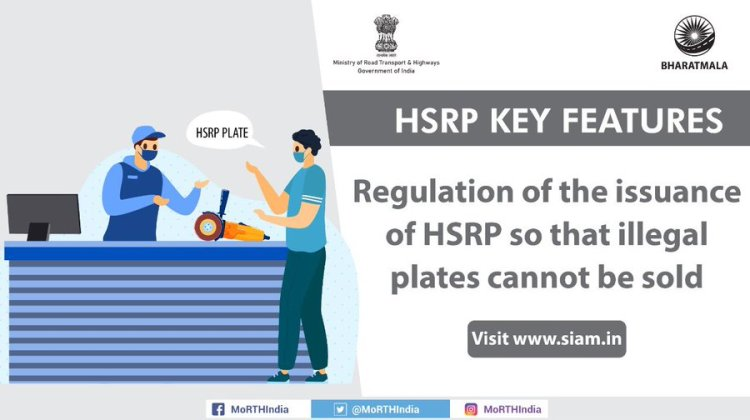 Issuance of HSRP plates are regulated by Government of India to prevent illegal activity