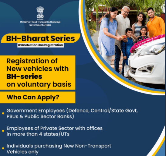 Who can apply for vehicle registration under BH series ?
